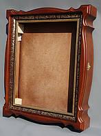 Киот для иконы из ольхи с пластиковым багетом., фото 1