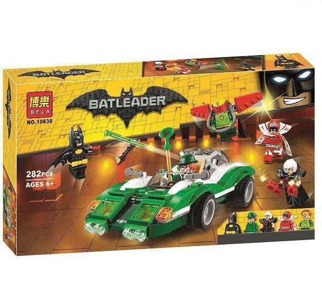 """Конструктор Bela Batman 10630 """"Гоночный автомобиль Загадочника"""" (аналог Lego The Batman Movie 70903) 282 дета"""