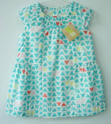 """Платье для девочки 6-12, 12-18, 18-24 месяцев, 2, 4 года """"Треугольники"""" Crazy8 (плаття дитяче, хлопок)"""