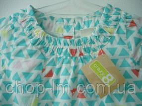 """Платье для девочки 6-12, 12-18, 18-24 месяцев, 2, 4 года """"Треугольники"""" Crazy8 (плаття дитяче, хлопок), фото 2"""