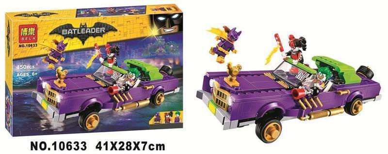 """Конструктор Bela Batman 10633 """"Лоурайдер Джокера"""" (аналог Lego The Batman Movie 70906) 450 деталей"""