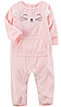 Флисовый комбинезон розовый Carter's для девочки 6мес, 9мес, 12мес