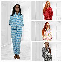 Домашний женский махровый костюм - пижама
