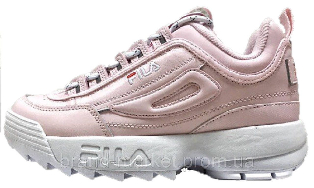 0d9028cef562 Женские кроссовки Fila Disruptor II Pink White (Фила Дисраптор 2, розовые) -
