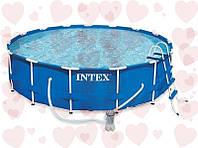 АКЦИЯ! Intex 28218 (366 х 99см) Каркасный круглый бассейн + фильтрующий насос + лестница