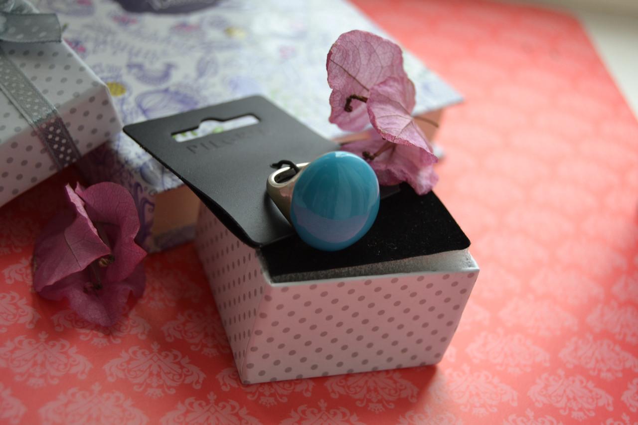 Регулируемое кольцо с цветной эмалью Pilgrim