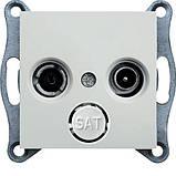 Механизм телевизионной розетки TV/R концевой, 5-862 мГц/2дБ, фото 2
