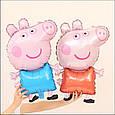 Надувний фольгований повітряна куля свинка пеппа джорджик 81 см, фото 5