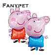 Надувний фольгований повітряна куля свинка пеппа джорджик 81 см, фото 4