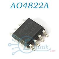 AO4822A, Mosfet транзистор, Dual N-channel, 8А 30В, SOP8