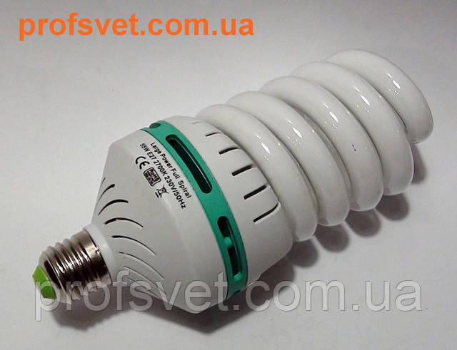 photo lamp large power full spiral 55-w e-27 2700-k profsvet.com.ua