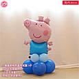 Надувний фольгований повітряна куля свинка пеппа джорджик 81 см, фото 2