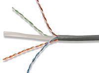 """Кабель компьютерный """"витая пара"""" """"KW-Link"""" UTP Cat.6 4x2x(0,51CCA), диам.-5,4мм, серый, 305м"""