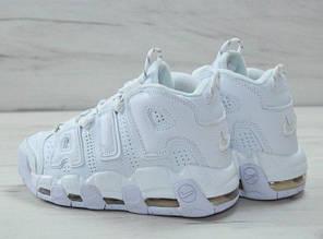 Мужские/женские кроссовки в стиле Nike Air More Uptempo Triple White (36 - 45 размеры), фото 2