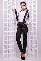 Женские брюки на флисе с подтяжками 47SH156