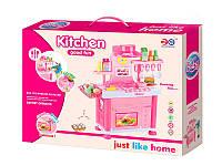 Игрушечная музыкальная кухня kitchen 6825-b для девочки