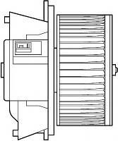 Вентилятор системи опалення Fiat Doblo з кондицiонером (2000-2012)