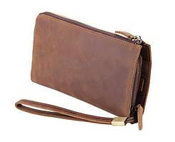 Кожаный клатч S.J.D 8048B коричневый