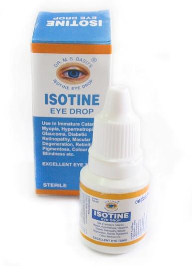 Глазные капли Айсотин, Айзотин, Isotine, 10 мл - восстановление зрения, тоник для глаз