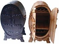 Бар из массива дуба овальный под заказ, мебель для ресторанов, кафе и баров из дерева под заказ в Киеве, фото 1