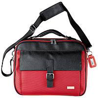 Сумка для ноутбука из полиестера и кожзама Ferraghini F108-05-CRA, красная
