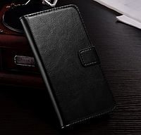 Кожаный чехол-книжка для  HTC One M9 черный