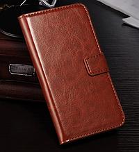 Кожаный чехол-книжка для  HTC Desire 620 коричневый