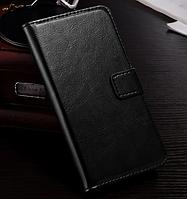 Кожаный чехол-книжка для  HTC Desire 620 черный