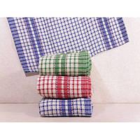 """Льняные кухонные полотенца с рисунком """"Вафелька"""". ПК00022"""