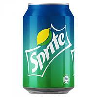 Вода сладкая Спрайт  Кока-Кола банка 0,33 л