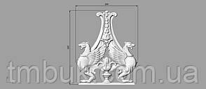 Вертикальный резной декор 28 - 200х240 мм, фото 2