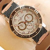 Часы Ulysse Nardin Chronometr Date Gold White кварцевые
