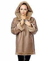 Дубленка 013 KROKO 022, Цвет Светло-коричневый, Размер XL
