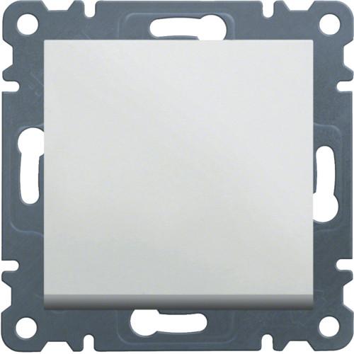 Вимикач 1-клавішний універсальний Hager Lumina Білий