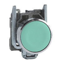 XB4BA31 Кнопка 22мм зелена з поверненням 1НО Schneider Electric