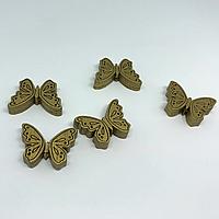 Деревянные заготовки для творчества. Бабочка цвет-золото. 25х17мм