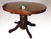 Стол А17 (Ода) шоколад/ темный орех, обеденный овальный раскладной  деревянный