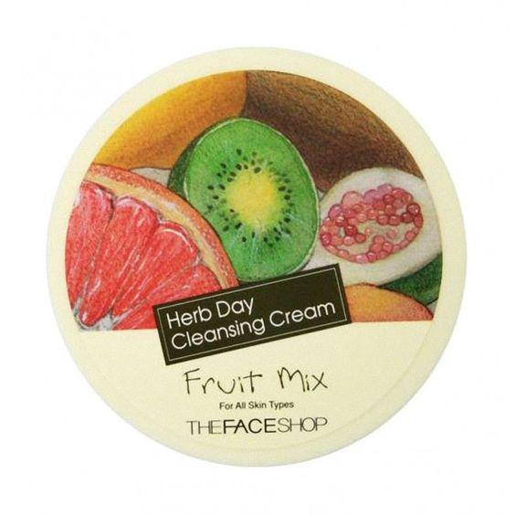 Крем для снятия макияжасфруктовымэкстрактом The Face Shop Herb Day Cleansing Cream Fruit Mix