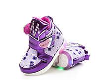 Демисезонные ботинки для девочек, 22-27 размер, 6 пар