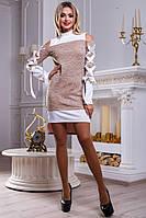 Модное платье-туника асимметричного кроя