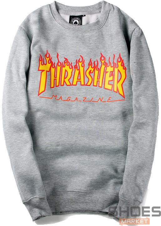 Свитшот Thrasher Grey (ориг.бирка)