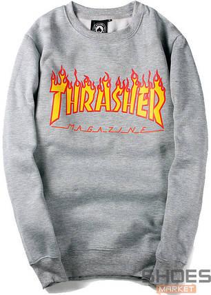 Свитшот Thrasher Grey (ориг.бирка), фото 2