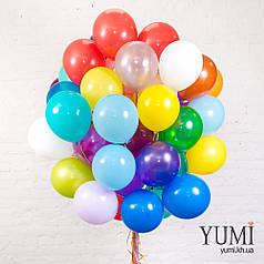 Связка из 50 шаров разноцветное ассорти