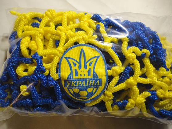 Футбольный шарф футбольного болельщика Украины плетёный, фото 2
