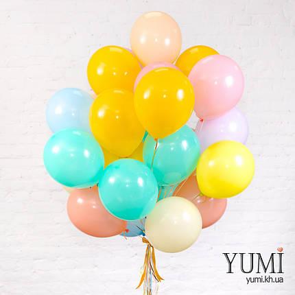 Связка из 25 пастельных гелиевых шариков, фото 2