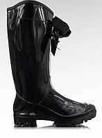 Черные женские резиновые сапоги блестящие B812-10 36