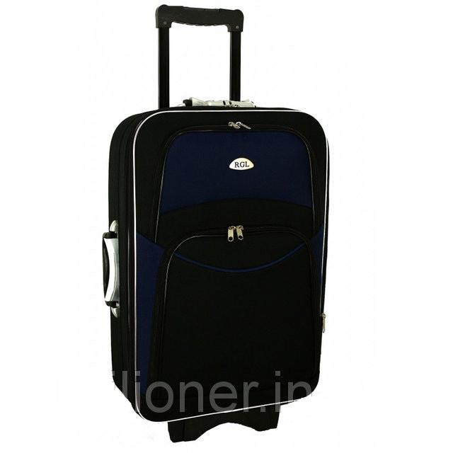 Чемодан сумка 773 (небольшой) черно-т.синий