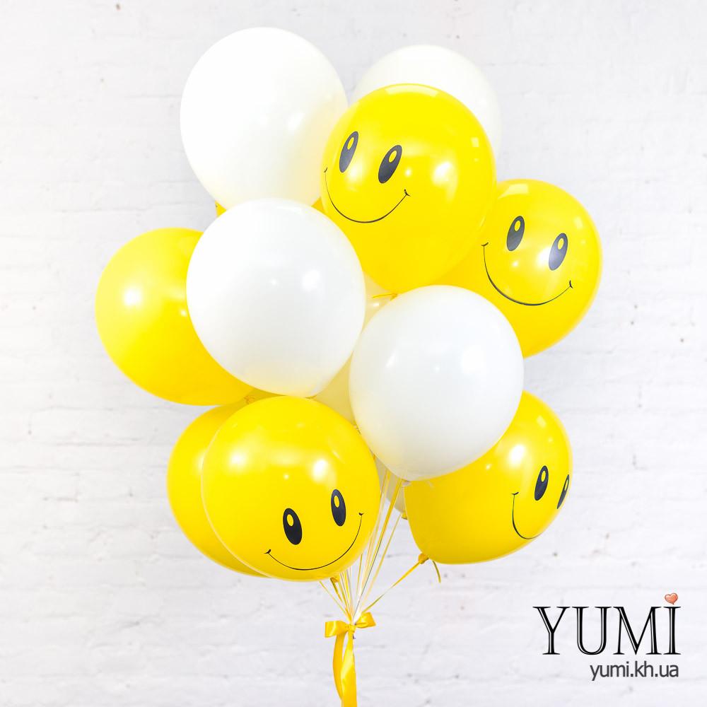 Связка для ребенка из 15 воздушных шаров с рисунком