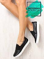 Черные женские кроссовки-слипоны с резиной nb72p 39