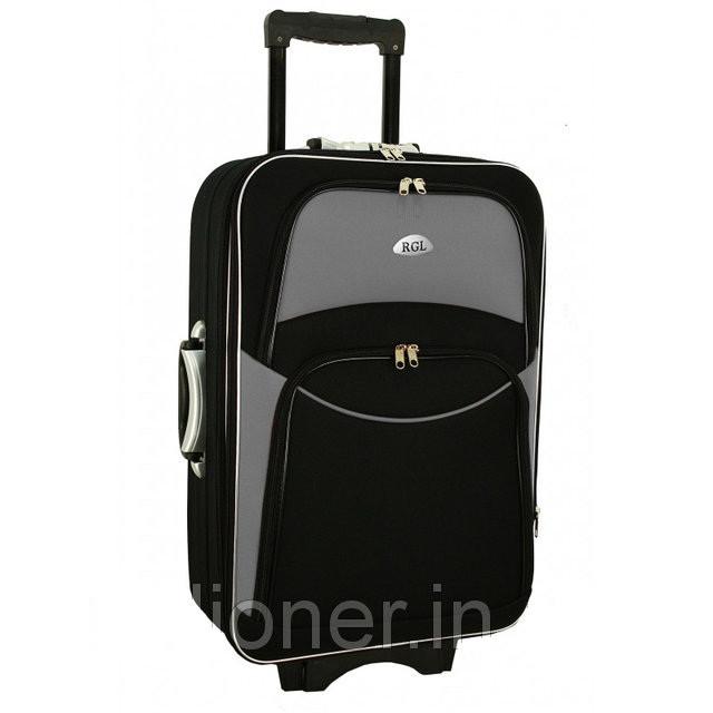 Чемодан сумка 773 (небольшой) черно-серый